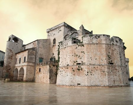 apulia: Tourism: This is the Aragonese Castle of Conversano. Apulia.