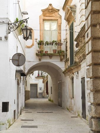 Ancient alley of Martina Franca. Apulia. photo