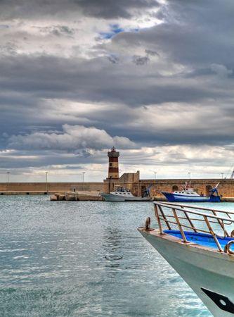 Landscape view of Monopoli seaport. Apulia.  photo