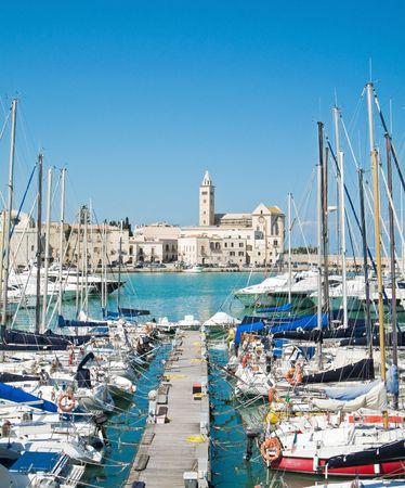 Touristic Port of Trani. Apulia.  photo