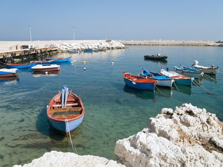 fishingboats: Landscape view of Giovinazzo. Apulia.
