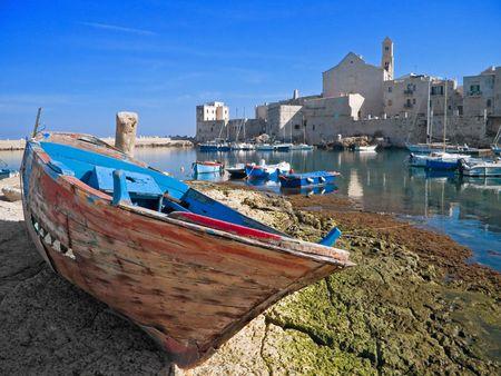 Landscape view of Giovinazzo touristic port. Apulia. photo
