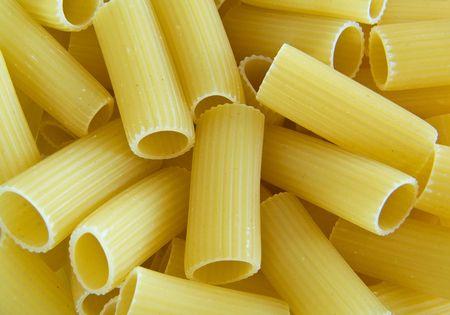 grooved: Rigatoni. Italian Pasta. Stock Photo