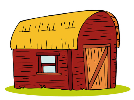 Wooden Barn house. Stock Vector - 6867898