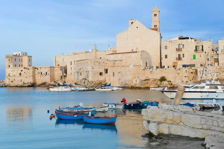 Landscape view of Giovinazzo touristic port. Apulia. photo