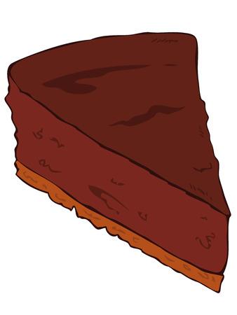 Chocolade taart segment. Stock Illustratie
