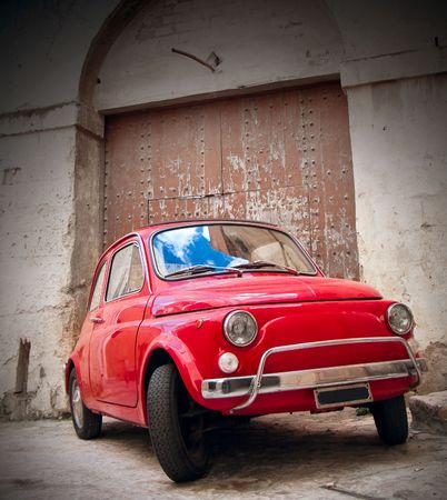 Red Classic Car. Stock Photo - 6895692
