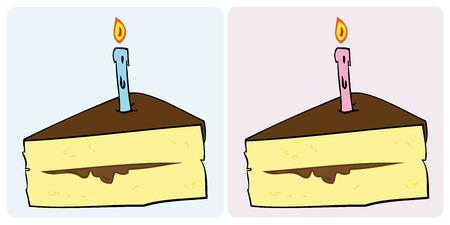 Verjaardag cake segment.