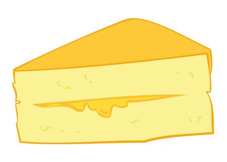 custard slice: Custard Cream Cake Slice. Illustration