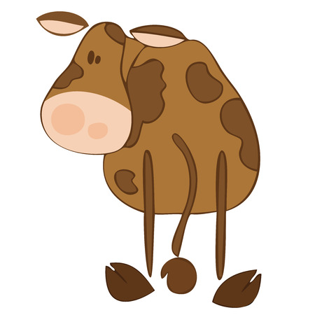 Funny dairy cow. Stock Vector - 6895720