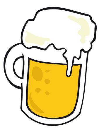 frozen glass: Beer Mug. Illustration