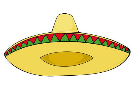 mexican sombrero: Sombrero.  Vettoriali