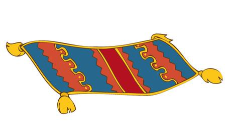 Alfombra persa.  Ilustración de vector