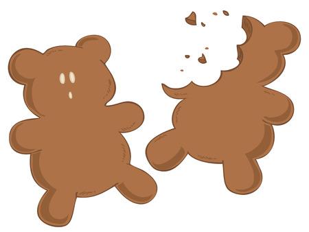 Worried Gingerbread. Vector