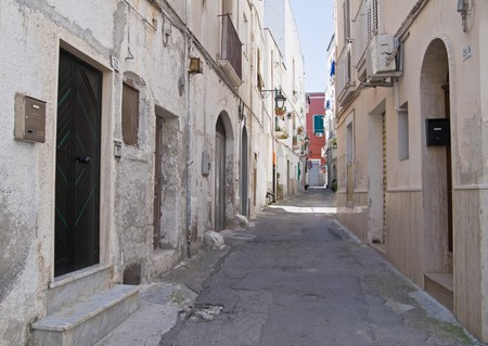 Alleyway in Monopoli Oldtown. Apulia. photo