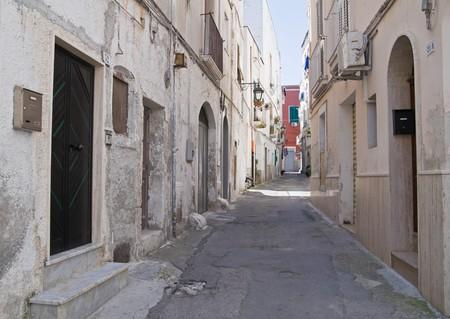 scraped: Alleyway in Monopoli Oldtown. Apulia.
