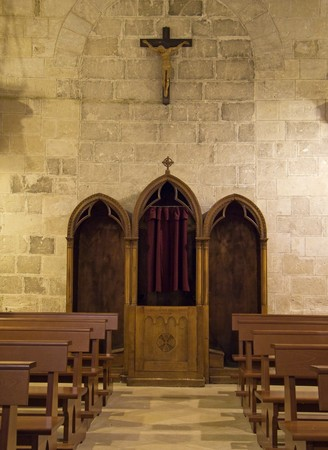 Indoor St. John the Baptist Church. Matera. Basilicata. Imagens - 6942613