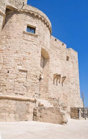 crenellated: Carlo V Castle. Monopoli. Apulia. Stock Photo