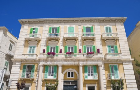 oldtown: Majestic Palace in Giovinazzo Oldtown. Apulia.