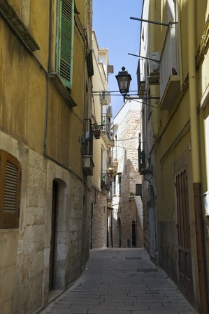 Alley in Palo del Colle Oldtown. Apulia. photo