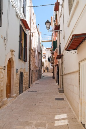 Alley in Palo del Colle Oldtown. Apulia. photo