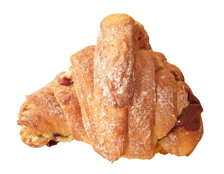 French chocolate croissant. photo