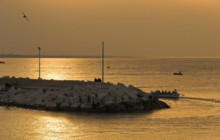 Giovinazzo sunset. Apulia. photo