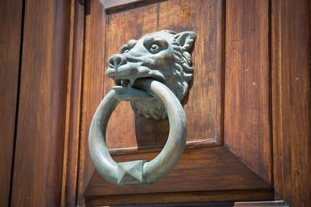 knocker: Wolf Head Doorknocker.