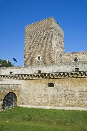 middleages: Norman-Swabian Castle. Bari. Apulia. Stock Photo