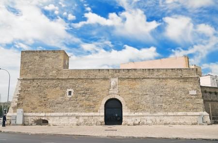 crenellated: Small fort. Bari. Apulia.