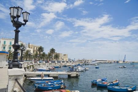 Panoramic view of Bari seafront. Apulia.