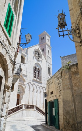 Cathedral view in Giovinazzo Oldtown. Apulia. photo