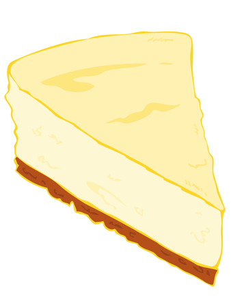 Cheesecake slice. Vector