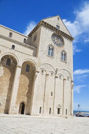 crenellated: Trani Cathedral. Apulia. Stock Photo