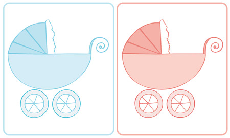 Baby Carriage. Vector