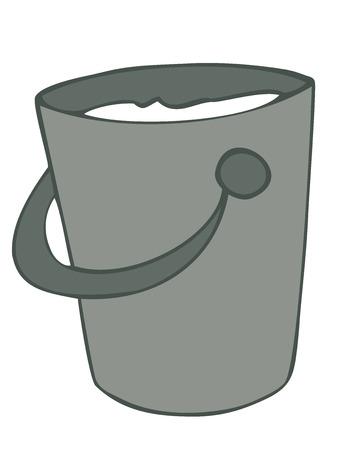 implement: Milk bucket. Illustration