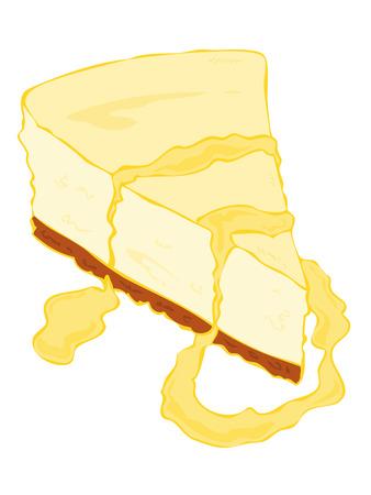vanilla pudding: Rebanada de pastel de queso con crema.