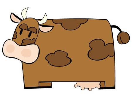 Funny dairy cow.  Stock Vector - 7289990
