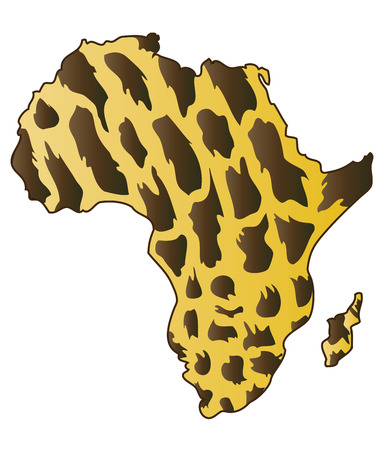 African Continent.  Vector