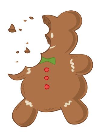crumb: Eaten gingerbread.