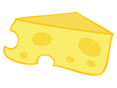 Yellow Cheese Block. Vector