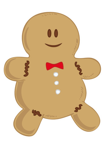 Smiling Gingerbread man.  Vector