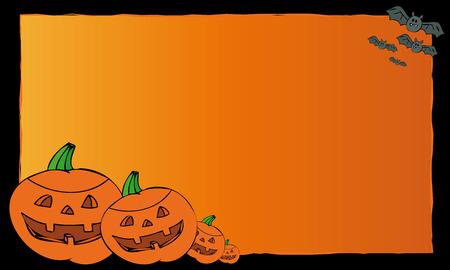 Halloween postcard. Vector