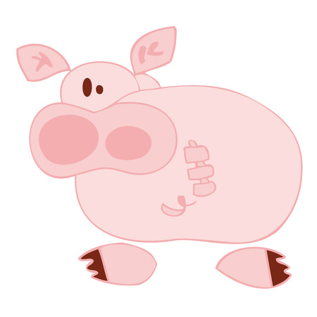 Funny pig. Stock Vector - 7289920