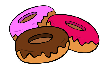 Donuts. Stock Vector - 7289937