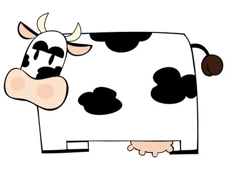 Funny dairy cow.  Stock Vector - 7290015