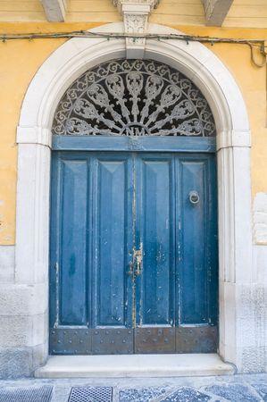 Wooden door. photo