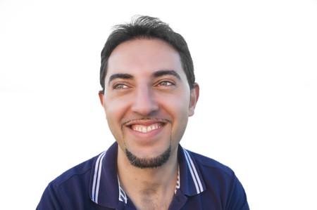 Smiling man isolated on white background. photo