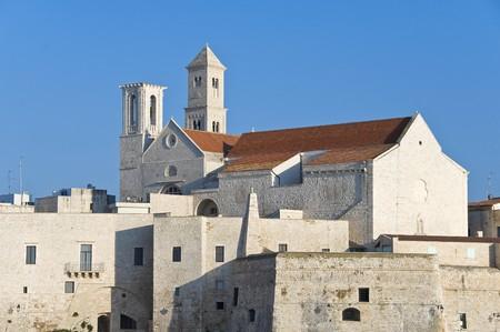 crenellated: Giovinazzo Cathedral. Apulia.