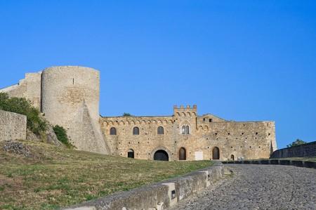 bulwark: Ducal Castle. Bovino. Apulia. Italy. Stock Photo